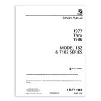 D2068-3-13 CESSNA 182/T182 SKYLANE SERVICE MANUAL 1977-86