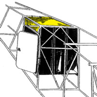 108-3002261-0   STINSON CURTAIN BAGGAGE COMPARTMENT