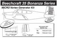VG5053   MICRO VORTEX GENERATOR KIT - BONANZA 35 SERIES