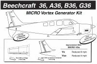 VG5056   MICRO VORTEX GENERATOR KIT - BONANZA B36TC