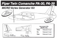 VG5052   MICRO VORTEX GENERATOR KIT - PIPER PA-30, PA-39