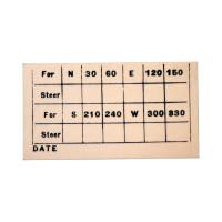 C23-807   COMPASS DEVIATION CARD