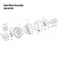 040-04100   CLEVELAND MAIN WHEEL ASSEMBLY