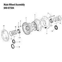 040-07504   CLEVELAND MAIN WHEEL ASSEMBLY