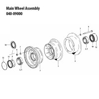 040-09000   CLEVELAND MAIN WHEEL ASSEMBLY