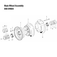 040-09804   CLEVELAND MAIN WHEEL ASSEMBLY