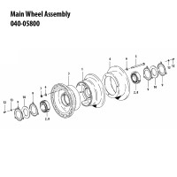 040-05800   CLEVELAND MAIN WHEEL ASSEMBLY
