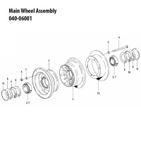 040-06001   CLEVELAND MAIN WHEEL ASSEMBLY