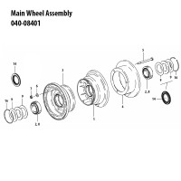 040-08401   CLEVELAND MAIN WHEEL ASSEMBLY