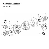 040-09701   CLEVELAND MAIN WHEEL ASSEMBLY