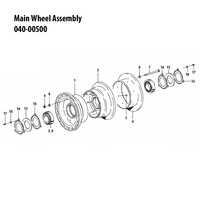 040-00500   CLEVELAND MAIN WHEEL ASSEMBLY