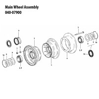 040-07900   CLEVELAND MAIN WHEEL ASSEMBLY