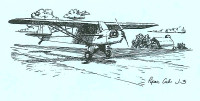 S-J3   STATIONERY SET - PIPER J-3 CUB