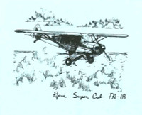 S-PA18   STATIONERY SET - PIPER PA-18