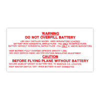 415-54062   ERCOUPE BATTERY BOX DECAL