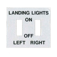 415-54107   ERCOUPE LANDING LIGHT PLACARD