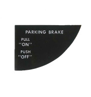 -150059-013   MOONEY PARKING BRAKE DECAL