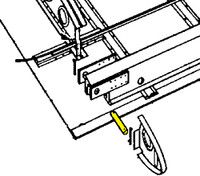 U18230   LUSCOMBE FRONT WING ATTACH HINGE PIN