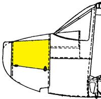 U086085-5   LUSCOMBE SIDE COWL DOOR - LEFT