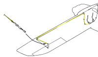 U285014   LUSCOMBE STICK TO AILERON CONTROL CABLE