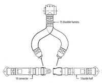 4022-1-051-2396   AMSAFE REAR SHOULDER HARNESS KIT