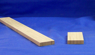 "K6007 1-3/4"" fillet shown in bamboo carbonized vertical"
