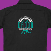 Lovecraft inspired work shirt with Esoteric Order of Dagon emblem