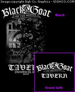 Black Goat of the Woods Tavern Work shirt