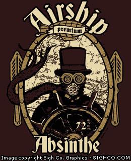 Airship Absinthe - steampunk shirt