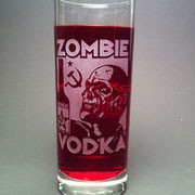 An etched collins glass perfect for any cocktail (of the undead)
