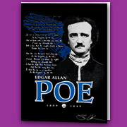 Blank notecards featuring Poe's Annabel Lee