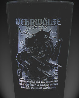 Wehrwolfe Dark smoked beer glass