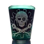 Steamy Roger shot glass (green)