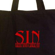 Sin Like You Mean It tote bag