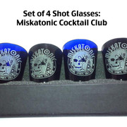 Miskatonic Cocktail Club Shot Glass set of 4