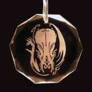 Cthulhu round crystal holiday ornament