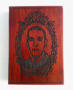 H.P. Lovecraft rosewood Business Card Holder