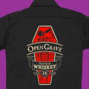 Open Grave Whiskey workshirt