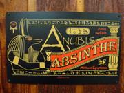 Anubis Absinthe vintage style metal sign