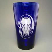 Hellfire Cthulhu beer glass (cobalt)