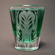 Balinese Cthulhu shot glass (clear)