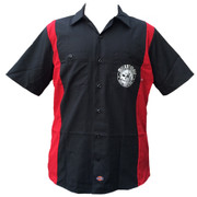 Miskatonic Cocktail Club red/black work shirt