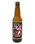Evil Lager reusable vinyl cling beer bottle label