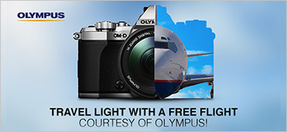 Get a free flight from Olympus