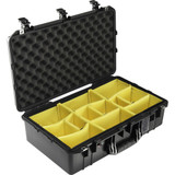 Pelican 1555AirWD Carry-On Case With Dividers- Black