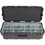 SKB iSeries 3613-12 Case with Think Tank-Designed Lighting/Stand Dividers & Lid Foam- Black