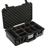 Pelican 1525 Air Carry-On Case- Black, with TrekPak Insert