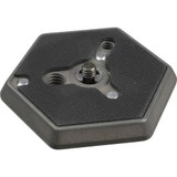 """Manfrotto 130-14 Hexagonal Quick Release Plate (Flat Bottomed) with 1/4""""-20 Screw"""