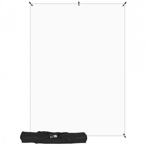 Westcott Photo Basics Fabric White Kit w/Stand - 5'x7'