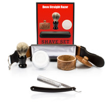 DOVO 504B 5/8 Col Conk Straight Razor with Luxury Shave Set